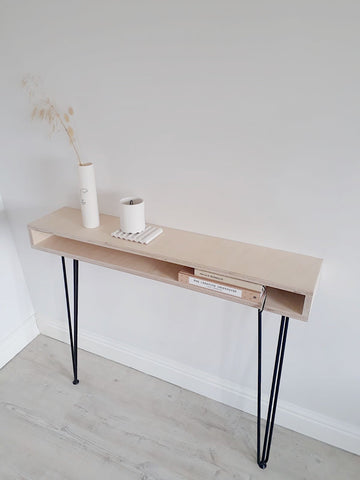 SCANDI OPEN CONSOLE TABLE WITH HAIRPIN LEGS