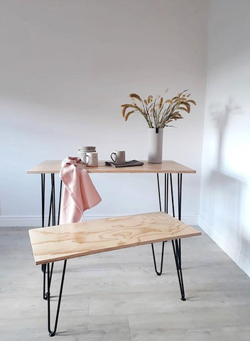 SCANDI DINING TABLE + BENCH