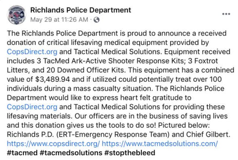 Richlands CopsDirect Thank You