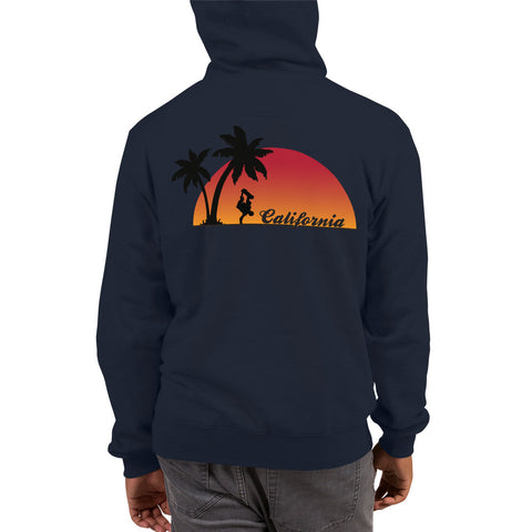 California Skateboarder Sunset - Champion Hoodie