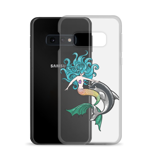Mermaid with Dolphin Samsung Case