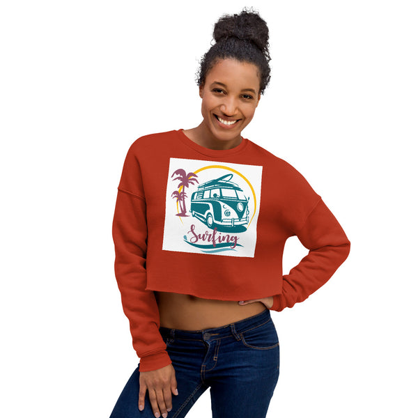 VW Surfing - Crop Sweatshirt