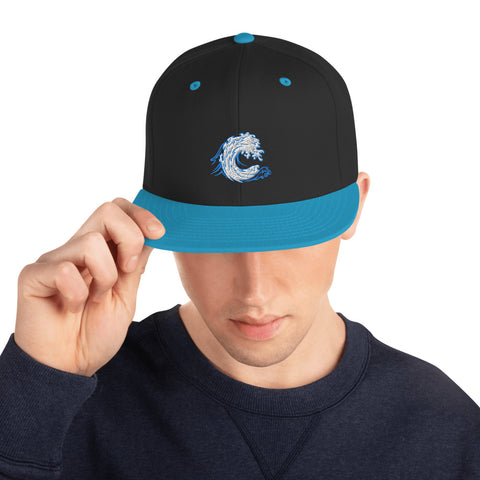 CARDIFF WAVE - Blue Snapback Hat