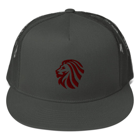 Embroidered Lion - Snapback Mesh Back