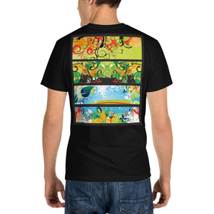 Vintage Floral Banners - Sustainable T-shirt