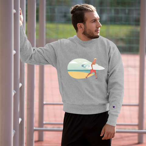 Surfing Time Young Man - Champion Sweatshirt