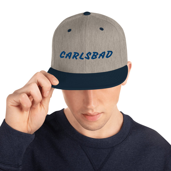 CARLSBAD Wave right side - Snapback Hat