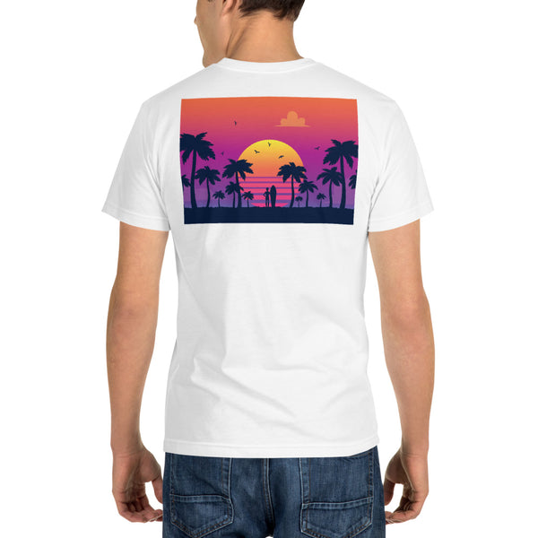 Tropical Summer Palm Trees -  Sustainable T-shirt
