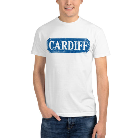 CARDIFF BLUE -  White Sustainable T-shirt
