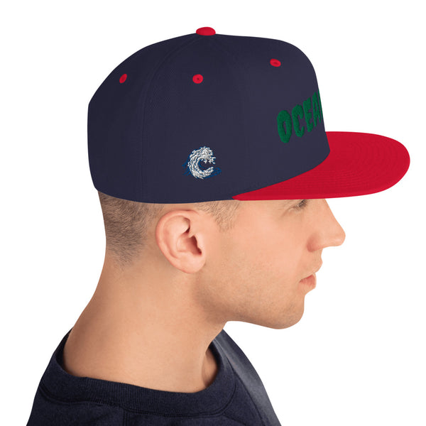 OCEANSIDE Wave right side - Snapback Hat