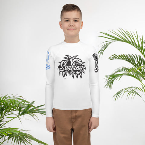 Surfing Hang Loose Man - Youth Rash Guard