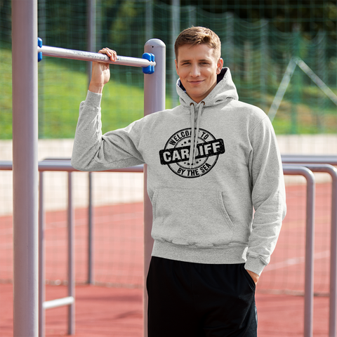 Cardiff-by-the-Sea front print - Champion Hoodie