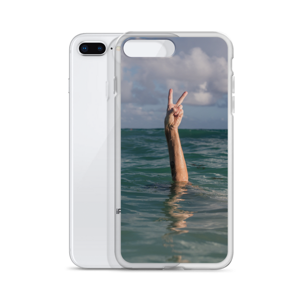 Hand Peace Sign iPhone Case