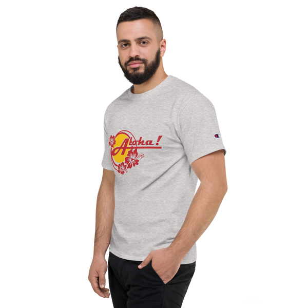 Aloha Tropical Hibiscus - Champion T-Shirt