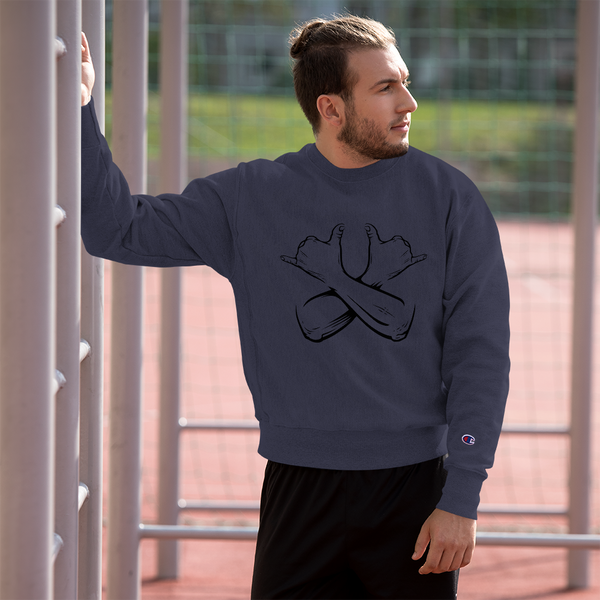 Hang Loose Crossed Arms - Champion Sweatshirt