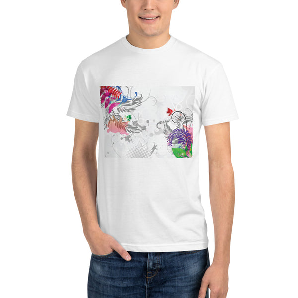 Abstract Floral - Sustainable T-shirt