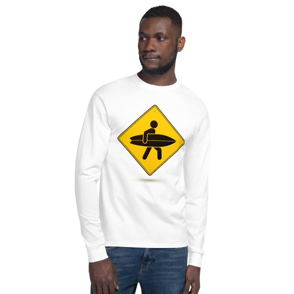 Surfer crossing sign - Champion Long Sleeve T-Shirt