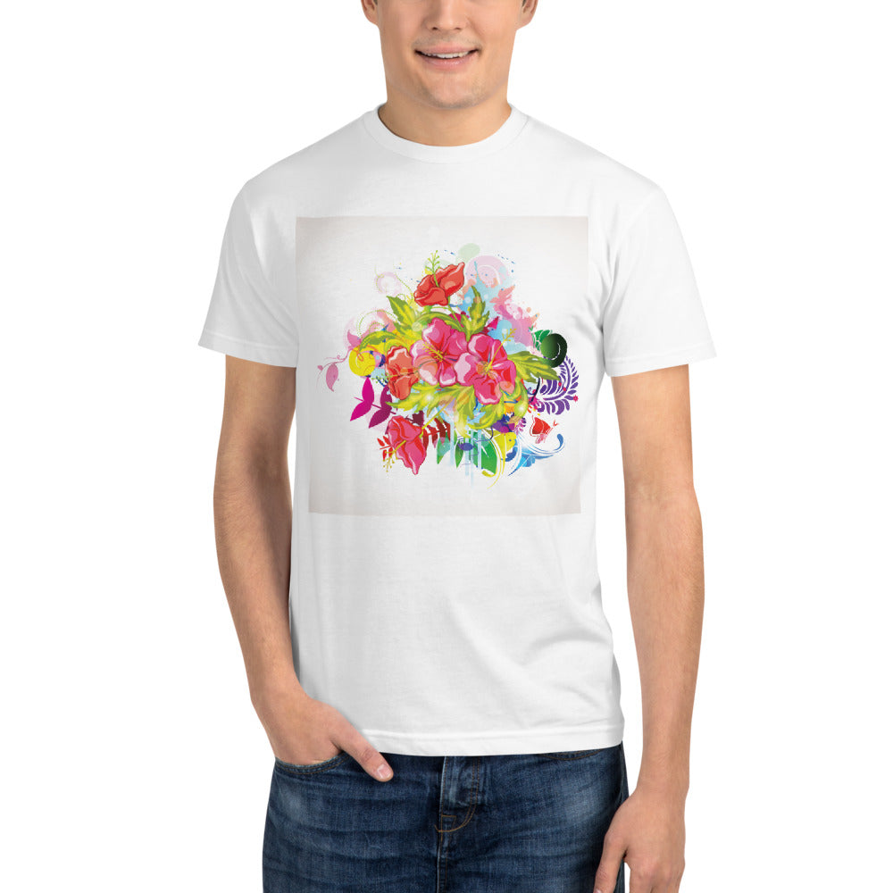 Abstract Colorful Floral - Sustainable T-shirt