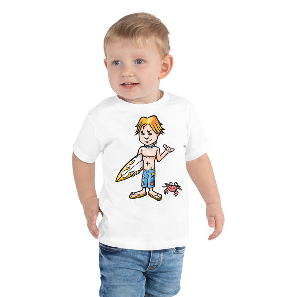 Young Surfer Crab - Toddler Short Sleeve Tee