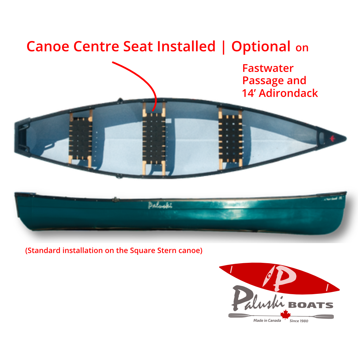 Canoe Centre Seat Installed | Optional
