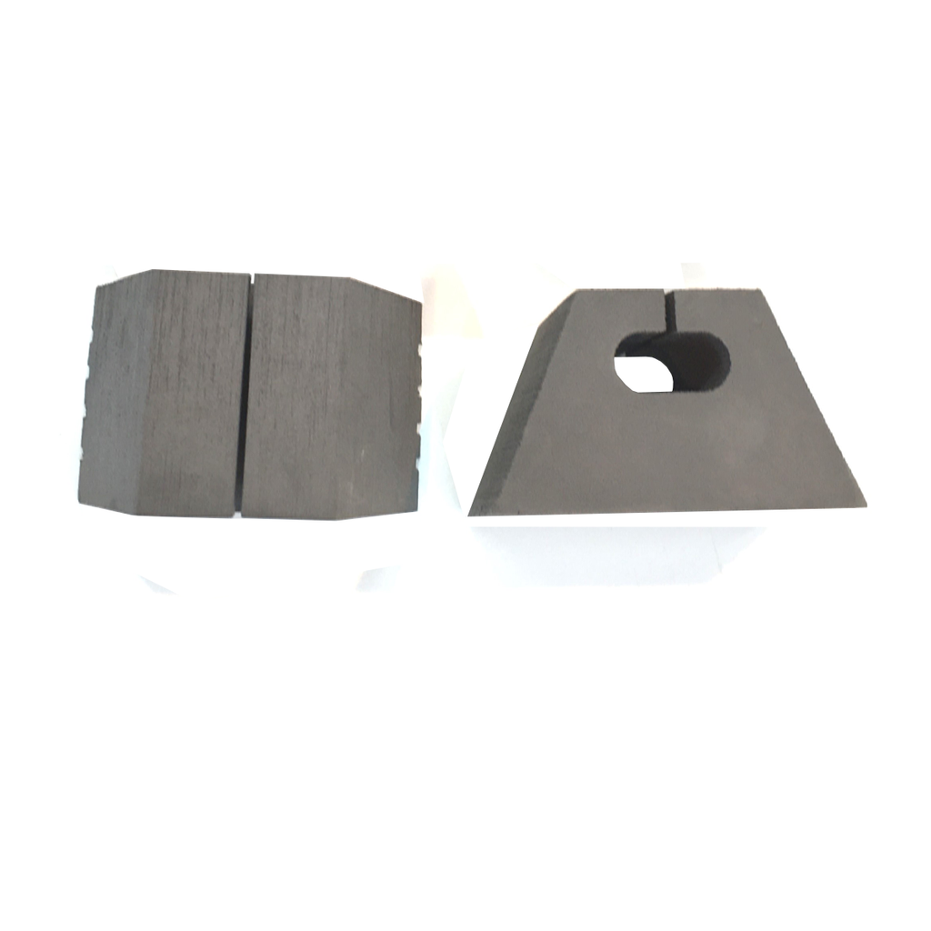 Canoe Foam Block Grey | Top and Side view
