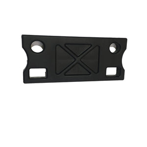 Black plastic canoe seat support bracket