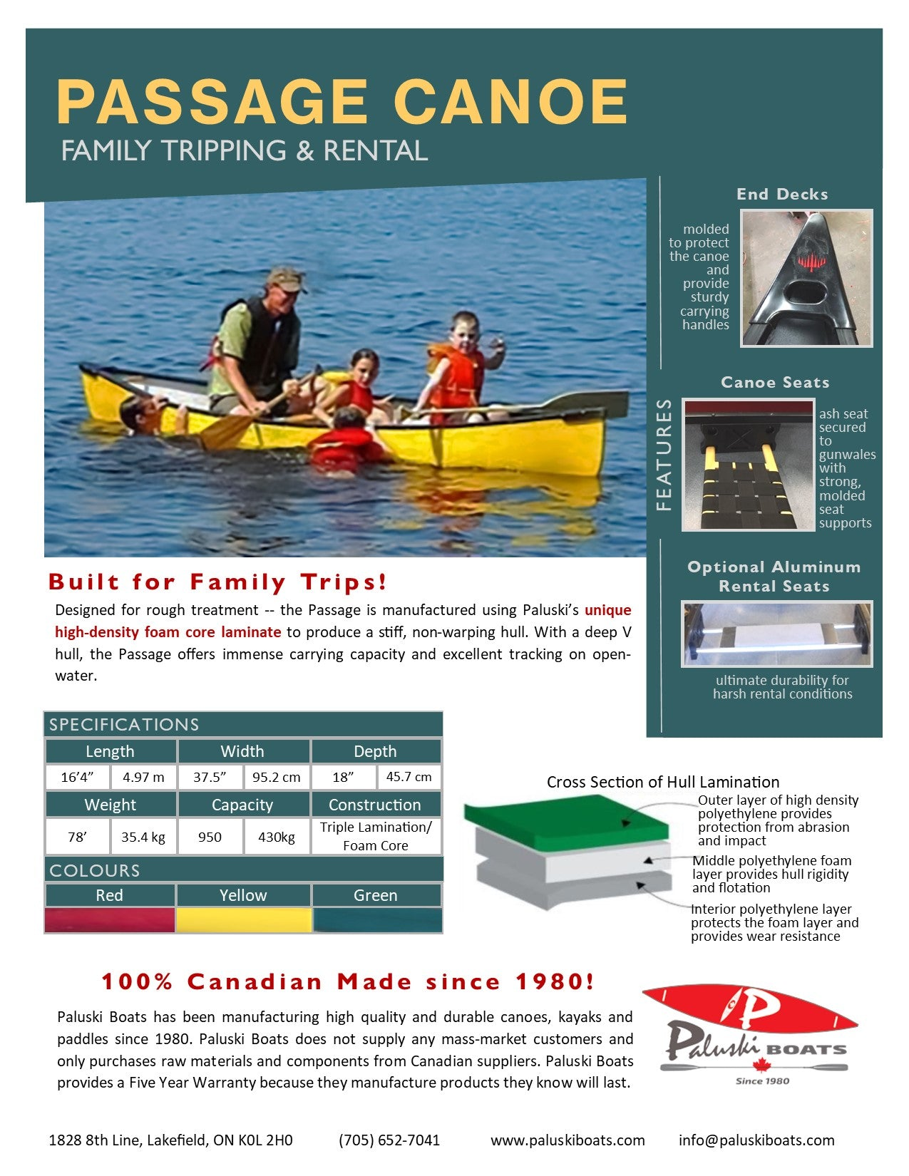 Passage Canoe Info Sheet
