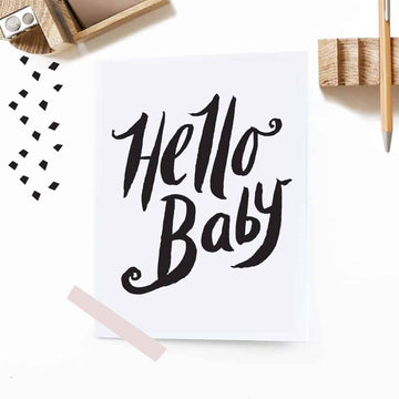 Hello Baby Greeting Card - Wee Gallery | Smart Art for Growing Minds | Modern Gifts & Decor