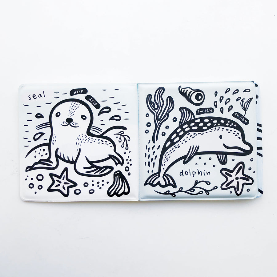 Color Me: Who's in the Water? - Wee Gallery | High-Contrast Newborn & Baby Developmental Toys & Gifts