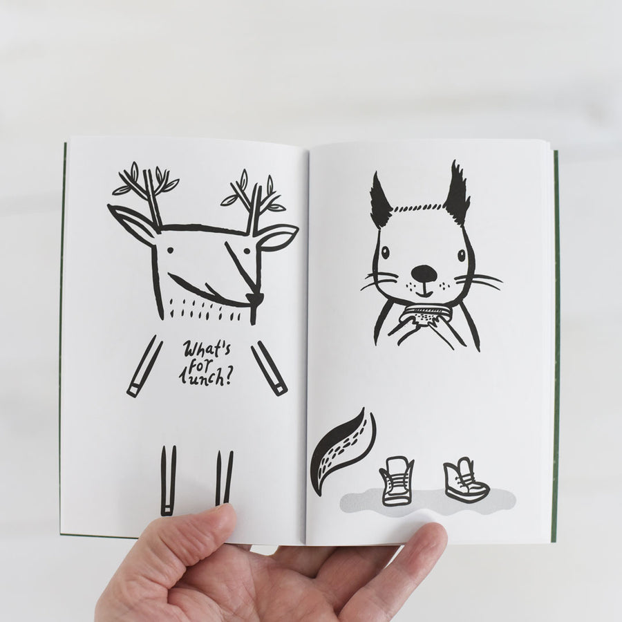 32 Ways to Dress Woodland Animals - Activity Book - Wee Gallery | High-Contrast Newborn & Baby Developmental Toys & Gifts