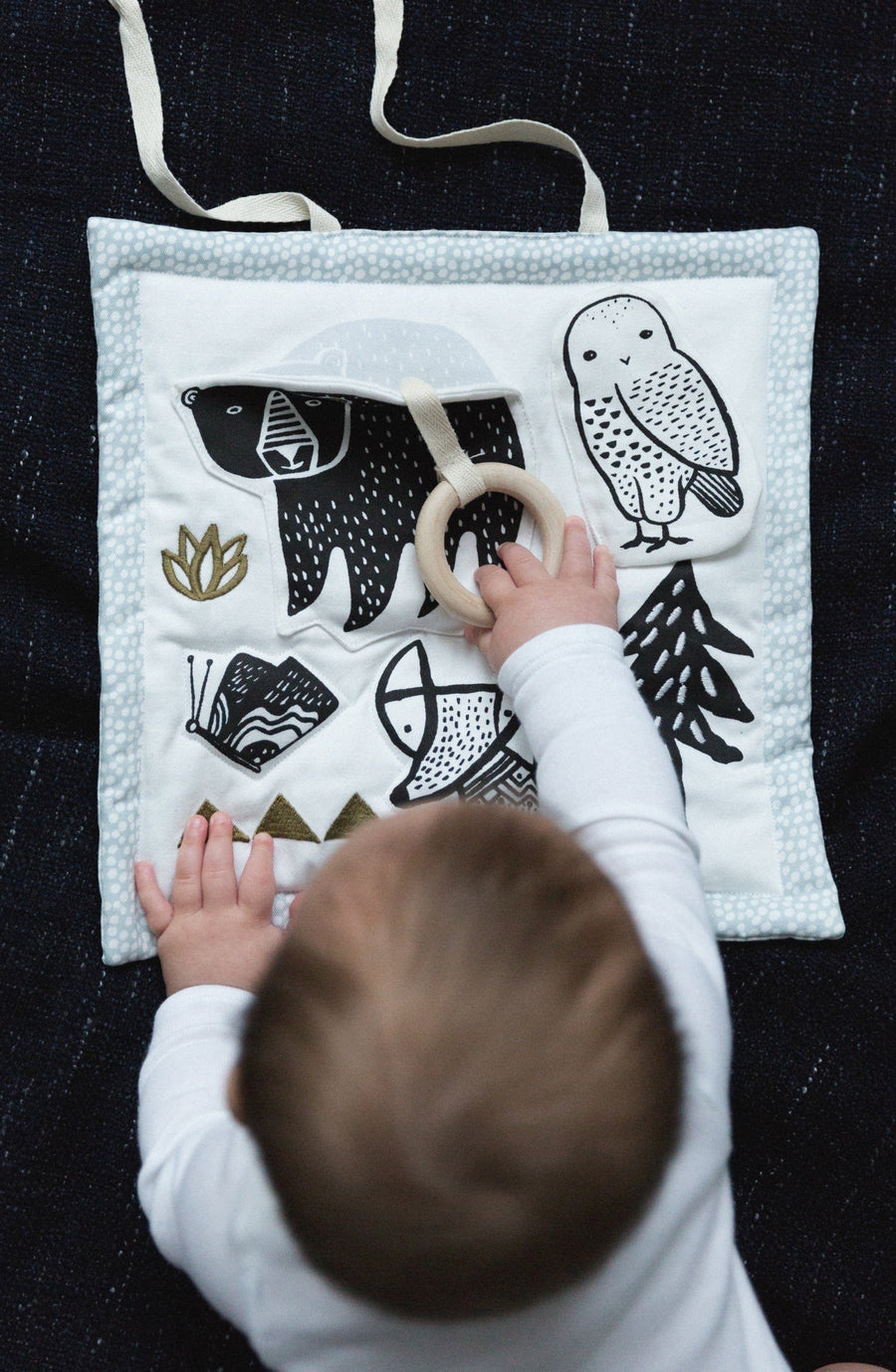 Organic Activity Pad - Woodland - Wee Gallery | High-Contrast Newborn & Baby Developmental Toys & Gifts