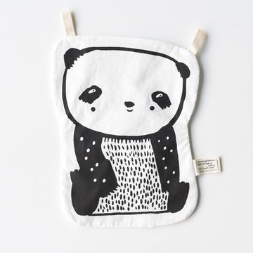 Organic Crinkle Toy - Panda - Wee Gallery | High-Contrast Newborn & Baby Developmental Toys & Gifts