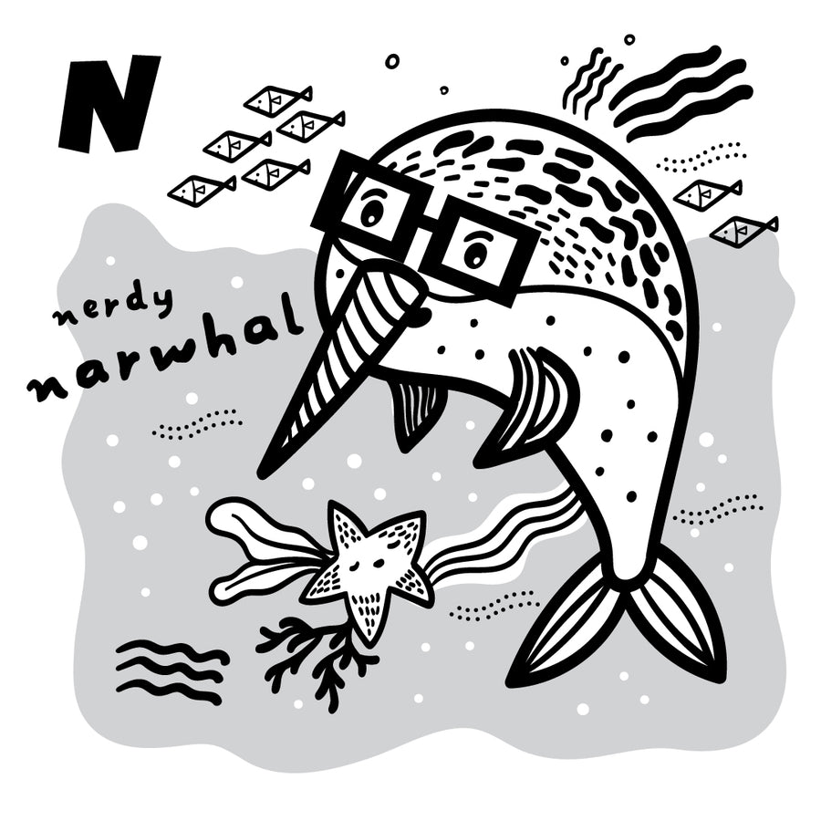 Alphabet Coloring Pages - Nerdy Narwhal