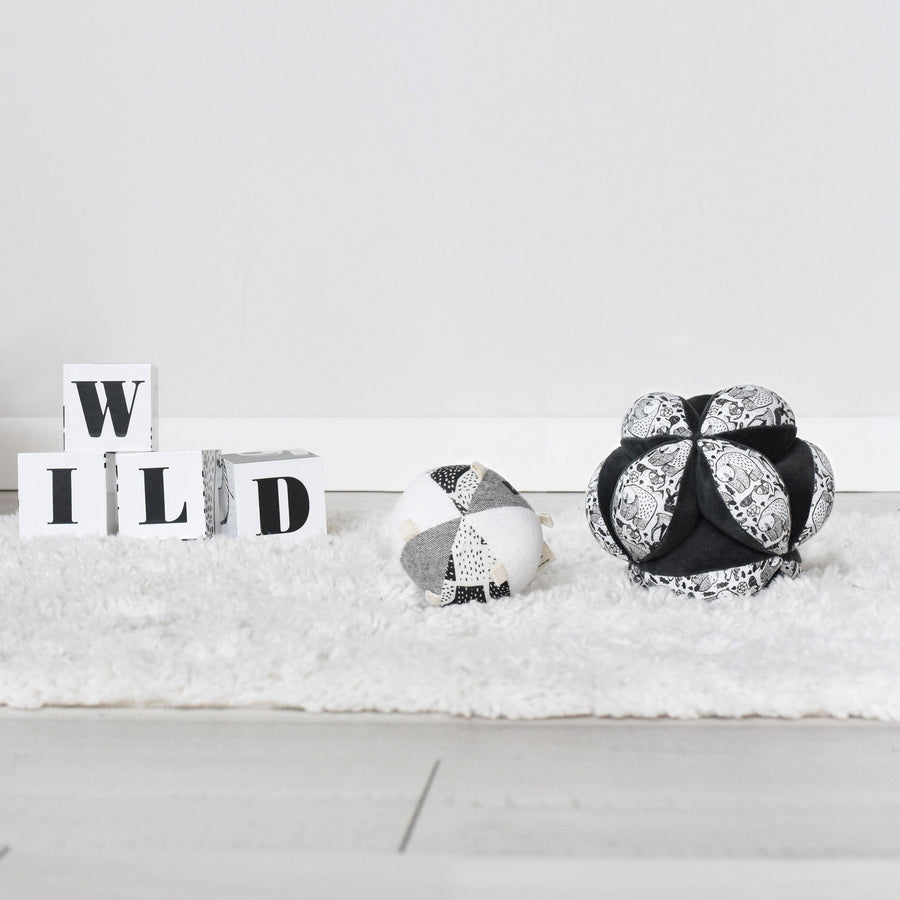 Clutch Ball - Nordic - Wee Gallery | High-Contrast Newborn & Baby Developmental Toys & Gifts