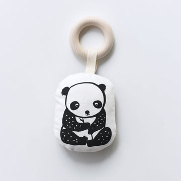 Organic Teether - Panda - Wee Gallery | High-Contrast Newborn & Baby Developmental Toys & Gifts