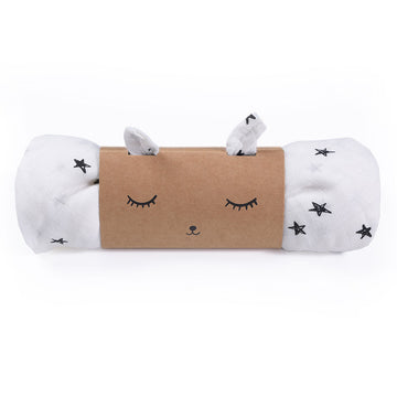 Organic Muslin Swaddle - Stars - Wee Gallery | High-Contrast Newborn & Baby Developmental Toys & Gifts