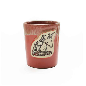 Unicorn Mug - Coral Gloss - Wee Gallery | Smart Art for Growing Minds | Modern Gifts & Decor