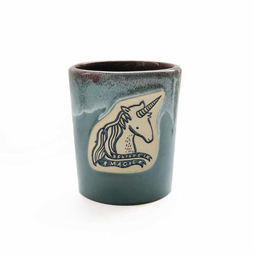 Unicorn Mug - Seafoam Gloss - Wee Gallery | High-Contrast Newborn & Baby Developmental Toys & Gifts