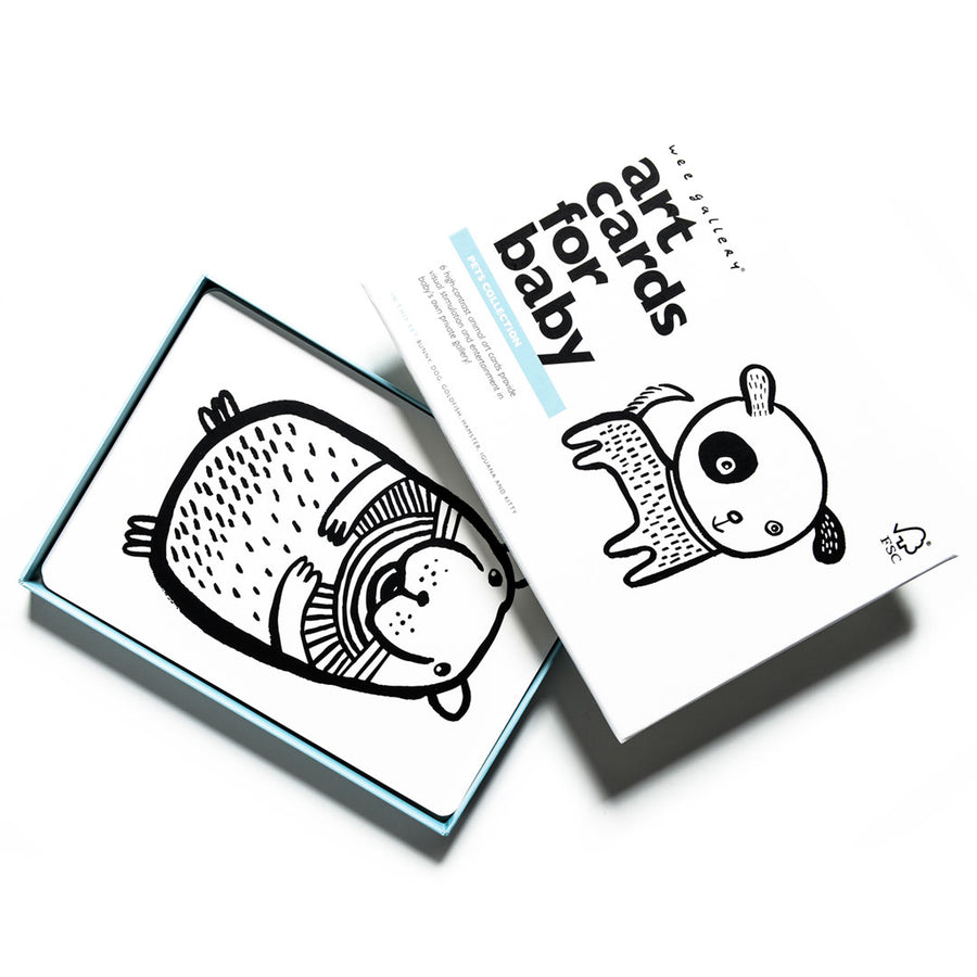 Art Cards for Baby - Pets Collection - Wee Gallery | High-Contrast Newborn & Baby Developmental Toys & Gifts