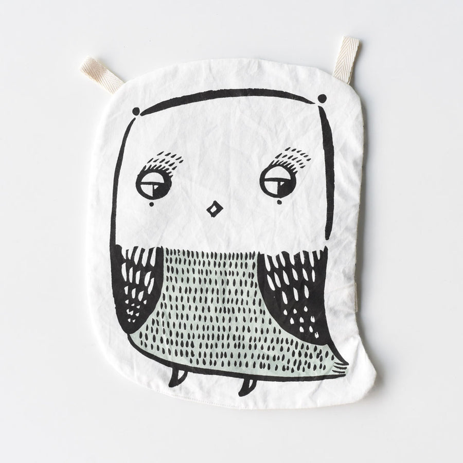 Organic Crinkle Toy - Owl - Wee Gallery | High-Contrast Newborn & Baby Developmental Toys & Gifts