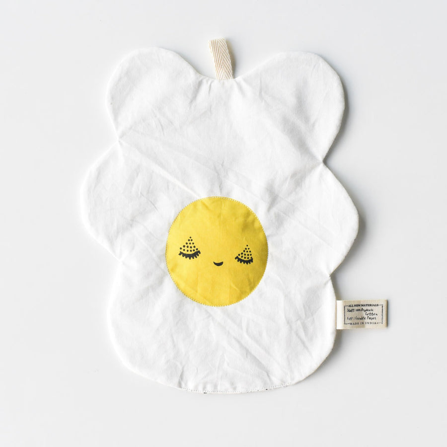 Organic Crinkle Toy - Egg - Wee Gallery | High-Contrast Newborn & Baby Developmental Toys & Gifts