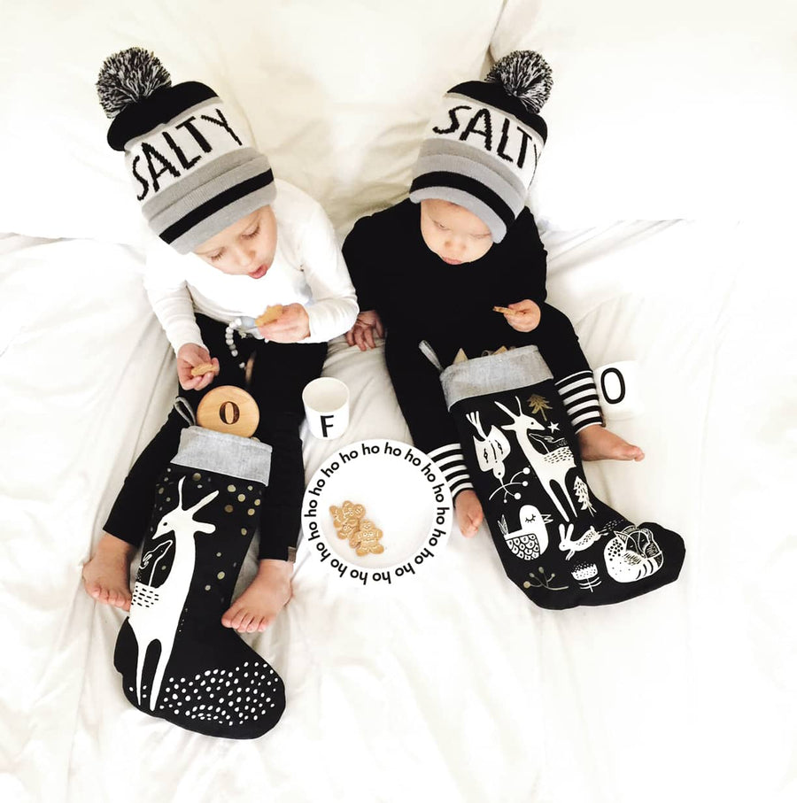 Deer Stocking - Wee Gallery | High-Contrast Newborn & Baby Developmental Toys & Gifts