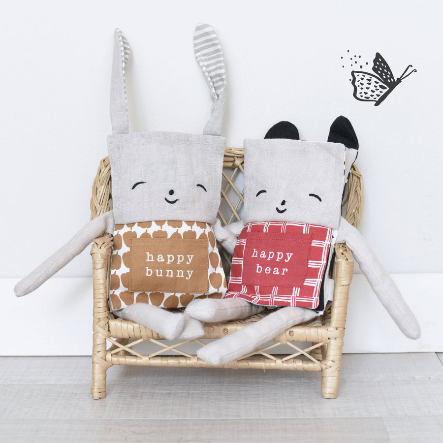 Organic Bear Flippy Friend - Wee Gallery | High-Contrast Newborn & Baby Developmental Toys & Gifts