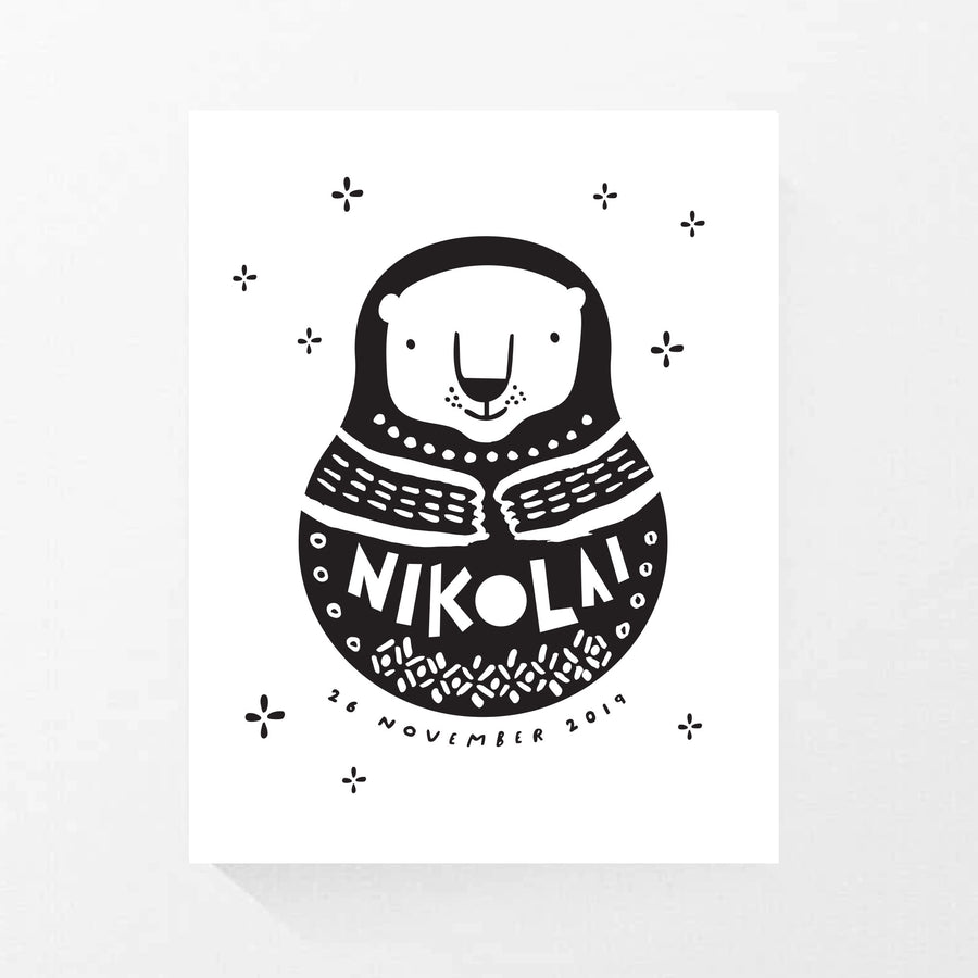Custom Bear Matroyshka Print