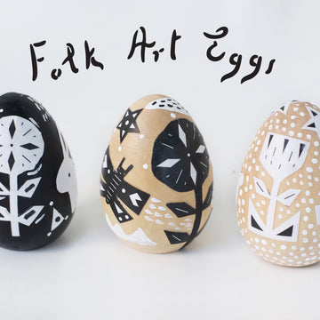Folk Art Egg Decorations