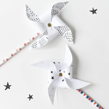 Summer Fun Pinwheels - Wee Gallery | High-Contrast Newborn & Baby Developmental Toys & Gifts