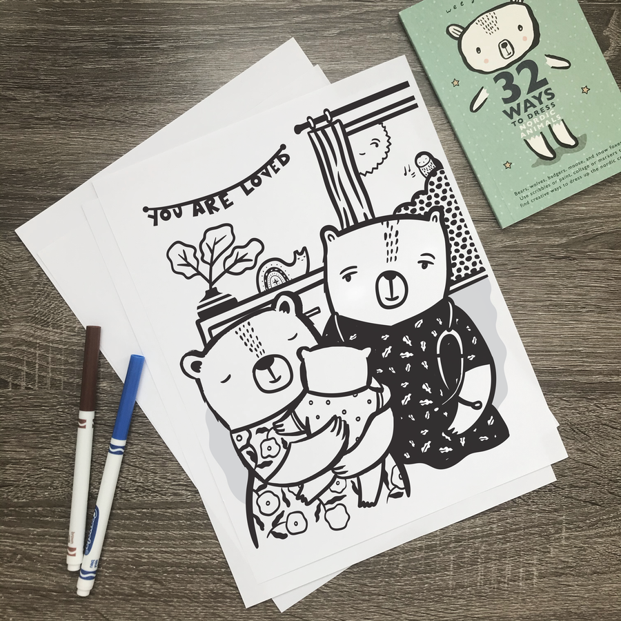 Coloring Pages - You Are Loved (English)