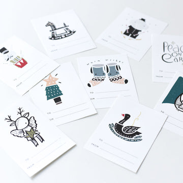 Holiday Gift Tags - Wee Gallery | High-Contrast Newborn & Baby Developmental Toys & Gifts