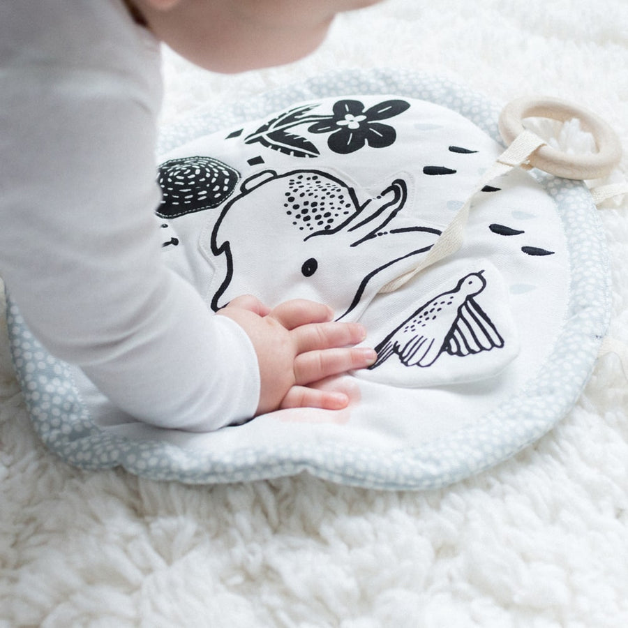Organic Activity Pad - Meadow - Wee Gallery | High-Contrast Newborn & Baby Developmental Toys & Gifts