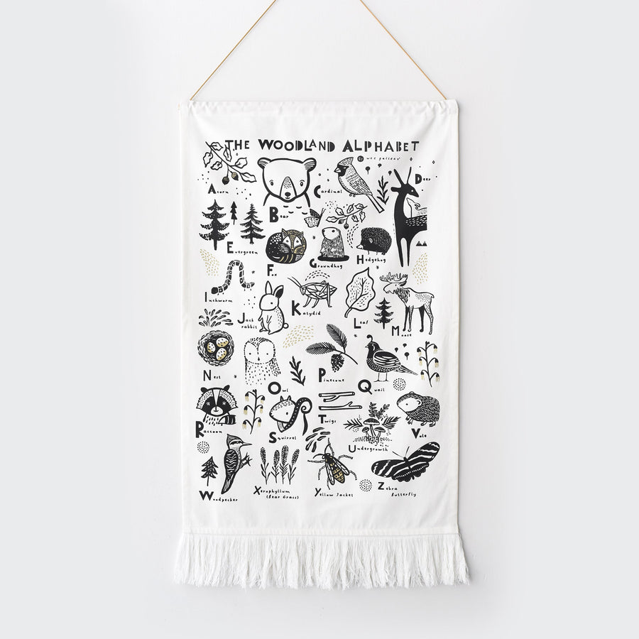 Woodland Alphabet Printed Tapestry